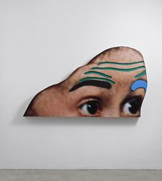"white-flag-projects: "" John Baldessari Raised Eyebrows/Furrowed Foreheads: (Black and Blue Eyebrows), 2008 Three-dimensional archival print laminated with lexan, mounted on shaped form with acrylic paint, 57 ¾ x 102 x 6 ¾ inches "" John Baldessari, Artistic Photography, Art Photography, White Flag, Ppr, Modern Artists, Sculpture, Conceptual Art, American Artists"