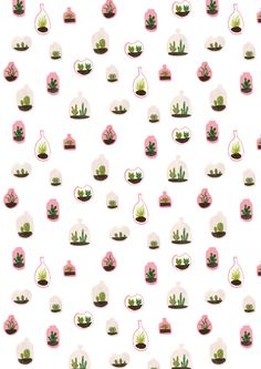 ideas for plants pattern design illustrations Pretty Patterns, Beautiful Patterns, Of Wallpaper, Pattern Wallpaper, Cute Pattern, Pattern Art, Image Cactus, Textile Patterns, Textiles