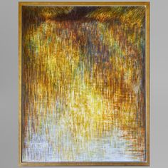 Rupert Muldoon Shadowed Waters V, Contemporary Egg Tempera Painting Colour Field, River Bank, Silk Art, Tempera, Gustav Klimt, Picture Collection, Stock Pictures, Brush Strokes, Diy Painting
