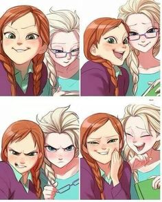Frozen~Anna and Elsa selfies.