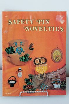 Safety Pin Craft Book Safety Pin Novelties by foundundertheeaves, $7.70