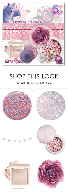 """Pretty Pastel Makeup"" by shannon-brennan ❤ liked on Polyvore featuring beauty, Deborah Lippmann, Guerlain, Ladybird and Gucci"