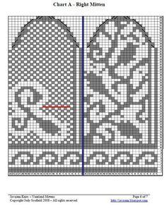 "Вязание. Жаккард - ""Зимняя радуга"" Knit Mittens, Mitten Gloves, Knitting Charts, Knitting Patterns, Fair Isle Knitting, Sun Hats, Needlepoint, Projects To Try, Diagram"