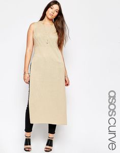 ASOS CURVE Knitted Tunic with Split Side
