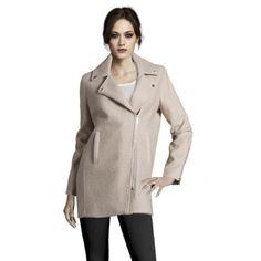 Wool Boucle & Melton Coat In Bone (KCOLE02 1105138)