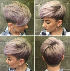 Textured Pixie Haircuts with Fine Hair Undercut for Short Hair