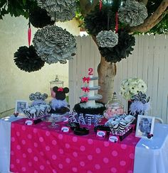zebra print party ideas