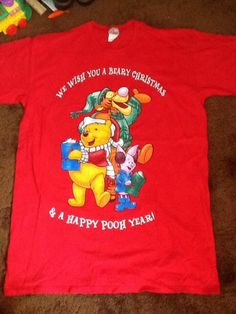 tigger, Winnie the Pooh, Piglet Christmas Night Shirt One Size Fits Most