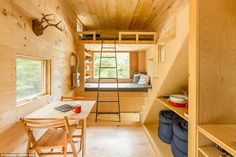 Many levels: The firm, launched in 2015, builds 'Instagram-able' tiny houses designed by Harvard Graduate School of Design students to provide the comforts of home