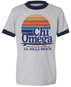 Chi Omega Surf T-shirt | Chi Omega T-shirt | Retro Surf T-shirt | Sisterhood Retreat T-shirt | Sorority T-shirts | Greek T-shirt | Greek Life