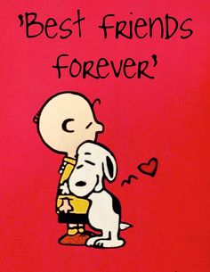 'Best Friends Forever', Charlie Brown and Snoopy.