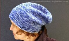 MY HAND MADE STUFF - MOJE RUKODELKY: Simple Slouchy Hat - Free Pattern And Video