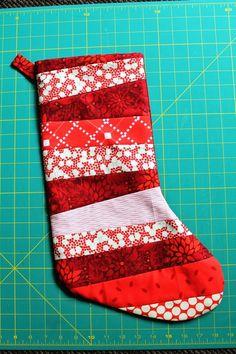 Christmas Stocking Tutorial | Stockings, Tutorials and Easy : quilted christmas stocking tutorial - Adamdwight.com
