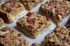 These yummy bars from Regina Schrambling at the New York Times taste like pecan pie but are easier to put together. The combination of pure maple syrup and pecans over a soft shortbread base is truly irresistible. Real Maple Syrup, Shortbread Bars, Sweet Bar, Pastry Blender, Vegetable Dishes, Dessert Table, A Food, Food Processor Recipes