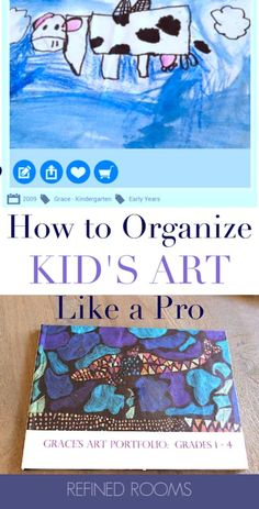 Is your home inundated with kids' artwork? Explore ways to tame this category of paper clutter, while honoring the hard work and creativity of your Little Davinci. Here's help! School Paper Organization, Receipt Organization, Life Organization, Organizing Kids Artwork, Organizing Tips, Grace Art, Paper Clutter, Paper Artwork, Getting Organized