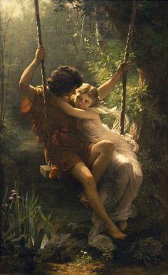 Spring (1873), oil on canvas, Metropolitan Museum of Art, NYC | artwork by Pierre Auguste Cot peril: