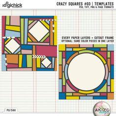 Crazy Squares #03   Templates