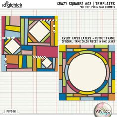 Crazy Squares #03 | Templates