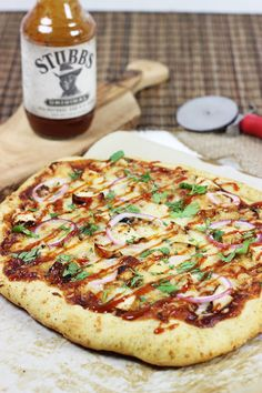 AMAZING PIZZA!!  BBQ Chicken Pizza #homemade #pizza