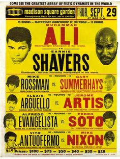Ernie Shavers boxer | Recent Photos The Commons Getty Collection Galleries World Map App ... Wrestling Posters, Boxing Posters, Vintage Box, Vintage Signs, Grudge Match, Muhammad Ali Boxing, World Boxing, Boxing History, Sting Like A Bee