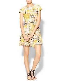 Generally I don't like yellow, but this floral print is dreamy and vintage inspired. Parker Kinley Silk Dress | Piperlime