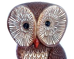 Vintage 1970s Owl Wall Plaque