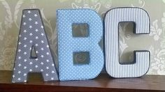 A-Z fabric letters whole alphabet 26 padded by AlphabetCraft
