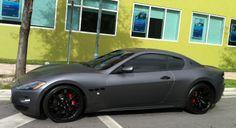 Matte Gray Maserati GranTurismo