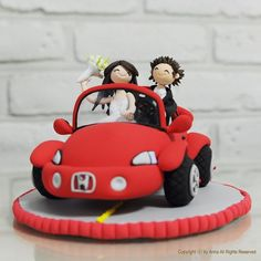 Hey, I found this really awesome Etsy listing at https://www.etsy.com/listing/71843272/honeymoon-car-custom-wedding-cake-topper