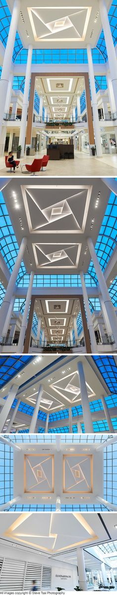 Oakville Place Ceiling features engineered and fabricated by Eventscape. The magical dangling lit-rings are just outright amazing to pull off considering both structural and power provisions!