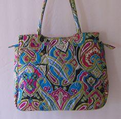 Vera Bradley Silk Paisley Limited Edition Handbag Audrey Shoulder Bag Retired  #VeraBradley #ShoulderBag