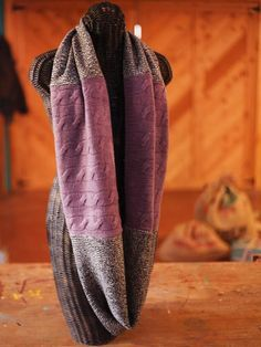 The experts at HGTV.com show how to create a knit-style scarf without knitting using repurposed sweaters.