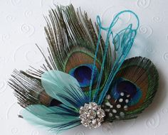 Hey, I found this really awesome Etsy listing at https://www.etsy.com/listing/193877748/peacock-feather-hair-clip-wedding