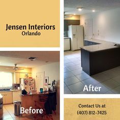 We're so happy with this Before and After! #JensenInteriors. Are you ready for a more elegant looking #Kitchen?!