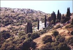 Spyliani monastery Samos, Greece, Country Roads, Greece Country