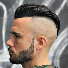 Barbershop Haircuts - Bald Fade with Long Slick Back