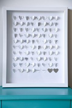 Artyink's 'Paper Wishes' - a unique artwork of guests wishes  www.artyink.co.nz