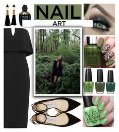 """""""Nails art"""" by alehrs on Polyvore featuring beauty, WearAll, OPI, Alexander McQueen, White Label and Jimmy Choo"""