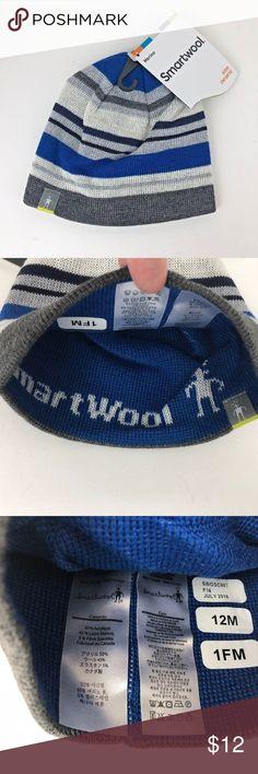 Smartwool Kids Wool Bootie Hat 12M Blue Stripe SMARTWOOL Kid s Wool Bootie  Hat - Blue Stripe Beanie NEW - 12 Month Smartwool Accessories Hats d668c09acc46