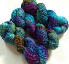 70/30 merino silk hand dyed 4ply yarn Iridescence 400m