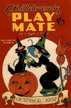 CONTINUING OUR VINTAGE HALLOWEEN COVERS FOR THE HALLOWEEN COUNTDOWN, WE NOW BRING YOU SOME GREAT HALLOWEEN COVER ART FROM THE CHILDRENS' PLA...