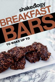 Pin of the Day: Re-pin for your chance to win!  These delicious no-bake breakfast bars are the perfect healthy treat to wake up to.  Shakeology // Breakfast // Bars // Healthy treats // vegetarian // Foods // Beachbody // Recipe // Morning // Lifestyle // Superfood