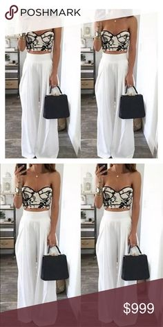Coming Soon! Beautiful high waisted Palazzo Pants. Chiffon and so easy to dress up! I love when I find items that represent my style! These are absolutely fabulous! Pants Wide Leg