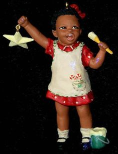 African American Christmas ornament.
