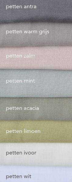 Half linnen in between gordijnen op maat , in vele kleuren te verkrijgen. Deze stof is kamerhoog dus geen naden. Geweldig voor gordijnen en vouwgordijnen. Stof Petten €29,95 p/m.