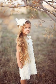 Lace dress - Flower girl dress- ruffle dress - Ivory