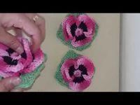 🌺Flower spray for crochet application for Bandot or rugs. By Vanessa Marcondes. Crochet Flower Tutorial, Crochet Flower Patterns, Crochet Designs, Embroidery Patterns, Hand Embroidery, Crochet Cactus, Love Crochet, Learn To Crochet, Irish Crochet
