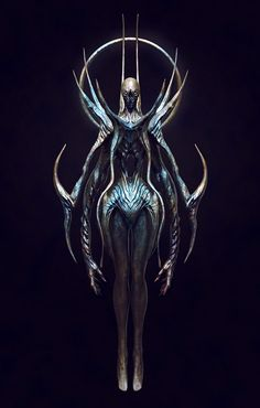 Unknow Angel by Khempavee on DeviantArt Dark Creatures, Alien Creatures, Creatures Of The Night, Fantasy Creatures, Mythical Creatures, Game Character Design, Fantasy Character Design, Character Art, Creature Feature