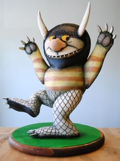 "Delectably mischievous ""Where the Wild Things Are"" cake baked by Charm City Cakes West."