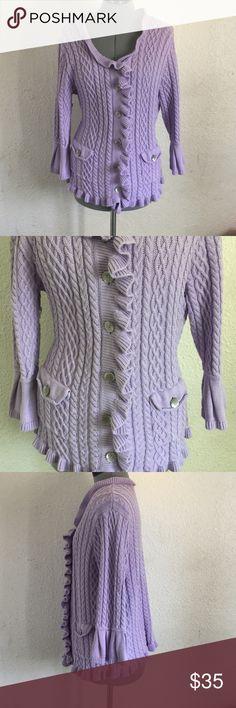 J. Jill knitted sweater, Purple SZ: 1x Great condition, no rips or flaws J. Jill Sweaters